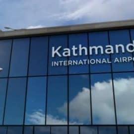 Videohive Airplane Landing At Kathmandu Nepal Airport Mirrored In Terminal 32618718 Free Download