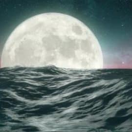 Videohive Night Ocean And Full Moon 4k 2160p 32617874 Free Download